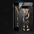 NBA Curry Glass Mirror Surface Silicone Glass Covers Protective Back Cases For Samsung Galaxy S10 - 05
