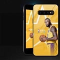 NBA James Glass Mirror Surface Silicone Glass Covers Protective Back Cases For Samsung Galaxy S10 - Yellow