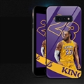 NBA James Glass Mirror Surface Silicone Glass Covers Protective Back Cases For Samsung Galaxy S10E - Purple