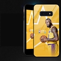NBA James Glass Mirror Surface Silicone Glass Covers Protective Back Cases For Samsung Galaxy S10E - Yellow