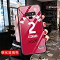 NBA Leonard Glass Mirror Surface Silicone Glass Covers Protective Back Cases For Samsung Galaxy Note9 - Red