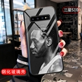 NBA Leonard Glass Mirror Surface Silicone Glass Covers Protective Back Cases For Samsung Galaxy S10 - Black