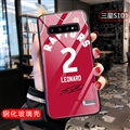 NBA Leonard Glass Mirror Surface Silicone Glass Covers Protective Back Cases For Samsung Galaxy S10 - Red