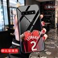 NBA Leonard Jersey Glass Mirror Surface Silicone Glass Covers Protective Back Cases For Samsung Galaxy S10 - Black
