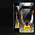 NBA Raise Hands James Glass Mirror Surface Silicone Glass Covers Protective Back Cases For Samsung Galaxy S10 - Black
