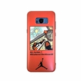 NBA Shoes Surface Cases For Samsung Galaxy S9 Silicone Soft Covers - Orange