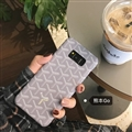 Personalized Goyard Leather Pattern Cases Hard Back Covers For Samsung Galaxy S9 - Grey