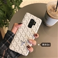 Personalized Goyard Leather Pattern Cases Hard Back Covers For Samsung Galaxy S9 - White
