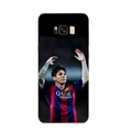 Raise Hands Messi Mirror Surface Lanyards Cases Shell For Samsung Galaxy S10 Silicone Soft Covers - Black