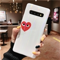 Red Love Mirror Surface Cases Blue Light Shell For Samsung Galaxy S9 Silicone Soft Covers - White