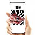 Red Shoes Surface Cases Sports Shell For Samsung Galaxy S8 Silicone Soft Covers - White