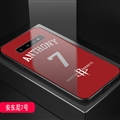 Rockets NBA Marble Aurora Laser Shell Glass Covers Protective Back Cases For Samsung Galaxy Note9 - Anthony Red