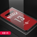 Rockets NBA Marble Aurora Laser Shell Glass Covers Protective Back Cases For Samsung Galaxy Note9 - Harden Red