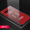 Rockets NBA Marble Aurora Laser Shell Glass Covers Protective Back Cases For Samsung Galaxy Note9 - Yao-Ming Red