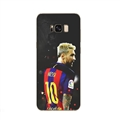 Side Face Messi Mirror Surface Lanyards Cases Shell For Samsung Galaxy S10 Silicone Soft Covers - Black