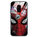 Spider Man Glass Mirror Surface Silicone Glass Covers Protective Back Cases For Samsung Galaxy S8 - 01