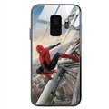 Spider Man Glass Mirror Surface Silicone Glass Covers Protective Back Cases For Samsung Galaxy S8 - 06