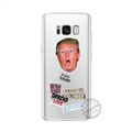 Spoof Donald Trump Surface Cases Shell For Samsung Galaxy S8 Silicone Soft Covers - Silvery