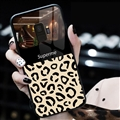Spureme Leopard Print Two Color Shell Glass Covers Protective Back Cases For Samsung Galaxy S9 - Black