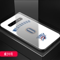 Thunder Okc NBA Marble Aurora Laser Shell Glass Covers Protective Back Cases For Samsung Galaxy S10 - Westbrook White