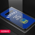 Warriors NBA Marble Aurora Laser Shell Glass Covers Protective Back Cases For Samsung Galaxy Note9 - Durant Blue