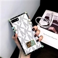 Michael Kors MK Faux Leather Ribbon Lanyards Cases Shell For iPhone 11 Pro Max Silicone Soft Covers - White