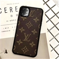Classic Flower LV Protective Leather Back Covers Holster Cases For iPhone 11 - Brown