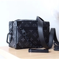 LV Monogram Chain Genuine Leather Case Crossbody Wallet Universal Bag Holster Cover For iPhone 11 Pro Max - Black