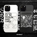 Unique Off-White Shell Matte Covers Protective Back Cases For iPhone 11 Pro Max - Black