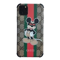 Classic Disney Casing Gucci Leather Back Covers Holster Cases For iPhone 11 Pro- Mickey