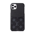 Classic Flower Skin LV Leather Back Covers Holster Cases For iPhone 11 Pro - Black