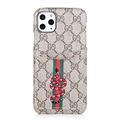 Classic Lattice Casing Gucci Leather Back Covers Holster Cases For iPhone 11 Pro- K10