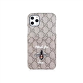 Classic Lattice Casing Gucci Leather Back Covers Holster Cases For iPhone 11 Pro- K5