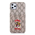 Classic Lattice Casing Gucci Leather Back Covers Holster Cases For iPhone 11 Pro- K6