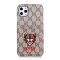 Classic Lattice Casing Gucci Leather Back Covers Holster Cases For iPhone 11 Pro- K7