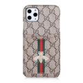 Classic Lattice Casing Gucci Leather Back Covers Holster Cases For iPhone 11 Pro- K8