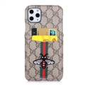 Classic Lattice Casing Gucci Leather Back Covers Holster Cases For iPhone 11 Pro- K9