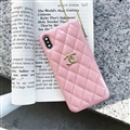 Classic Lattices Chanel Leather Hanging Rope Covers Soft Cases For iPhone 11 Pro - Pink