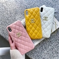 Classic Lattices Chanel Leather Hanging Rope Covers Soft Cases For iPhone 11 Pro - Yellow