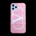 Classic Shell LV Protective Leather Back Covers Holster Cases For iPhone 11 Pro - Pink