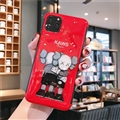 Kaws Mirror Surface Cute Cartoon Cases Shell For iPhone 11 Pro Silicone Soft Covers - Red