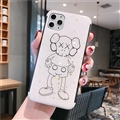 Kaws Mirror Surface Cute Cartoon Cases Shell For iPhone 11 Pro Silicone Soft Covers - White