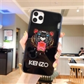 Kenzo Mirror Surface Glass Cases Shell For iPhone 11 Pro Silicone Soft Covers - Black