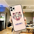 Kenzo Mirror Surface Glass Cases Shell For iPhone 11 Pro Silicone Soft Covers - Pink