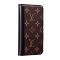 LV Monogram Simplicity Flip Leather Cases Cover Book Genuine Holster Shell For iPhone 11 Pro - Black Brown