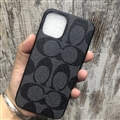 Classic Flower Coach Protective Leather Back Covers Holster Cases For iPhone 11 Pro Max - Black