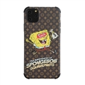 Classic LV Housing Matte Covers SpongeBob Back Cases For iPhone 11 Pro Max - Brown