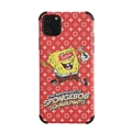 Classic LV Housing Matte Covers SpongeBob Back Cases For iPhone 11 Pro Max - Red