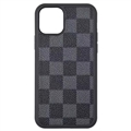Classic Lattice Casing LV Leather Back Covers Holster Cases For iPhone 11 Pro Max - Blue