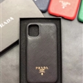 Classic Shell Prada Protective Leather Back Covers Holster Cases For iPhone 11 Pro Max - Black